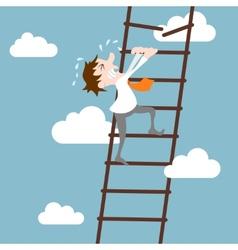 Businessman character career development concept vector