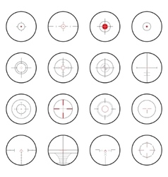 Cross-hair icon set vector image