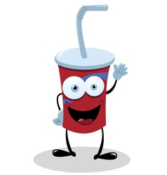 Funny Fast Food Drink vector image