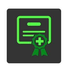 Medical Certificate Flat Button vector image