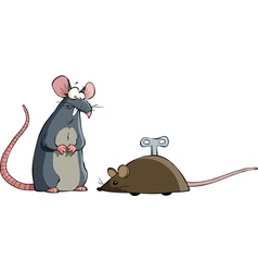 two mouse vector image vector image