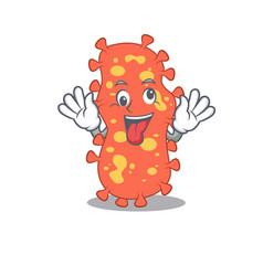 a cartoon design bacteroides having crazy vector image