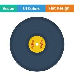 Analogue record icon vector