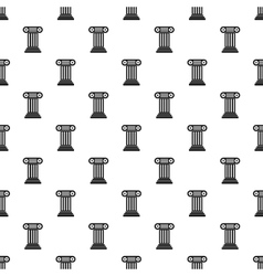 Ancient ionic pillar pattern simple style vector