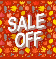 Autumn sale season sale concept vector