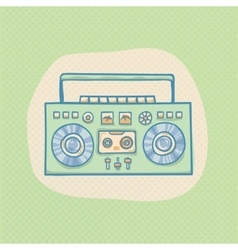 Boombox with cassette vector