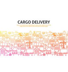 cargo delivery concept vector image