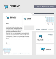Cart business letterhead envelope and visiting vector