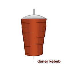 cartoon doner kebab vector image