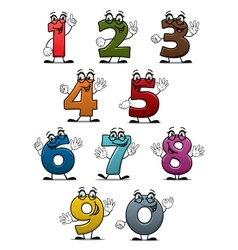 Cartoon funny numbers and digits vector