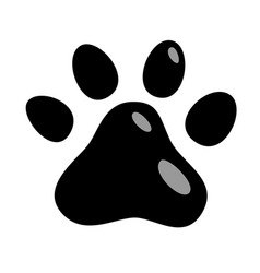 cats paw icon animals cat puppies mark foot vector image