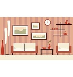 Color interior of cartoon minimalistic moder vector