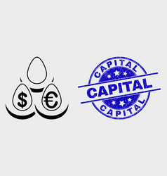 contour currency deposit eggs icon and vector image