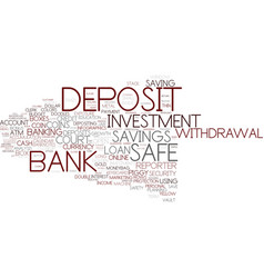 Deposit word cloud concept vector