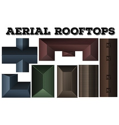 Different design of rooftops vector