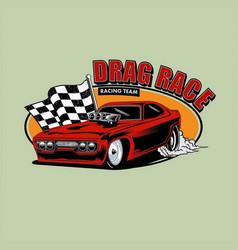 Drag race vector