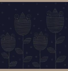 Embroidered gold lilies vector
