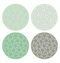 Floral pattern round backgrounds vector