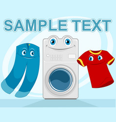 Good laundry advertising vector