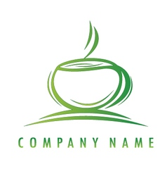 Green cup logo vector