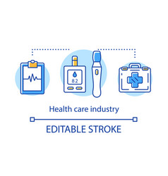 Health care industry concept icon healthcare vector