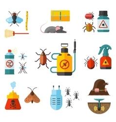 Home pest control expert exterminator service flat vector