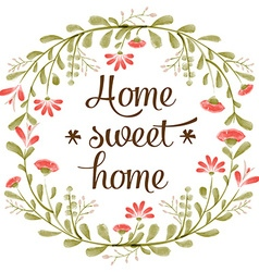 Home sweet home background with delicate vector