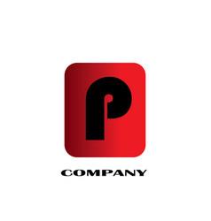 initial letter p linked design logo vector image
