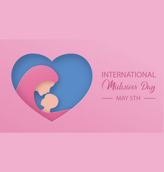 International midwives day female doctor holds vector