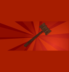 law gavel wooden hammer justice legal judicial vector image