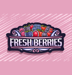 Logo for fresh berries vector
