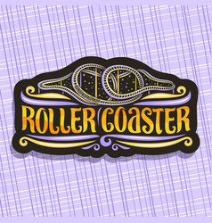 Logo for roller coaster vector
