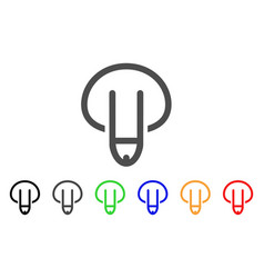 Male genitals down icon vector
