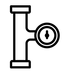 Manometer pipe stage icon outline style vector