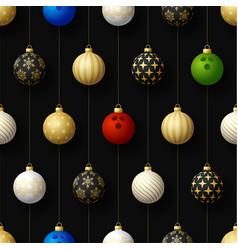 merry christmas bowling seamless pattern hang vector image