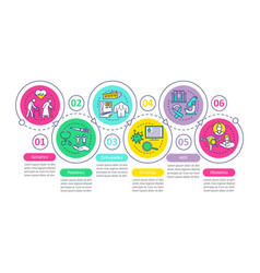 Nursing service infographic template vector