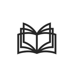 Open book logo emblem for a bookstore vector