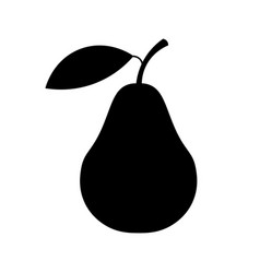 pear icon pear silhouette sign isolated on white vector image