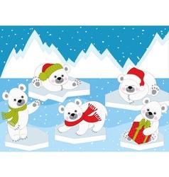 Polar Bears01 vector image
