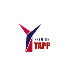 premium company letter y icon vector image