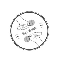 rap battle logo vector image