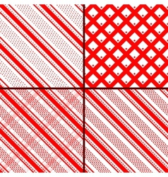 Red oblique striped patterns vector
