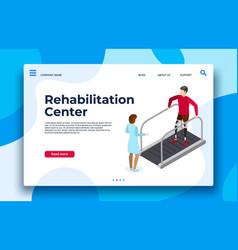 rehabilitation center landing page vector image