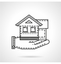 Rental house line icon vector