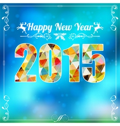 Retro New Year Frame vector image
