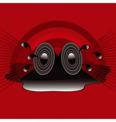 retro speakers vector image