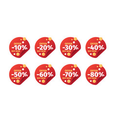 sales badges promo banners with numbers and vector image
