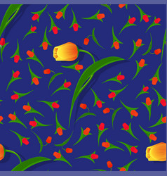 seamless flower pattern-02 vector image