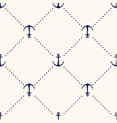 seamless geometric pattern with anchors and vector image