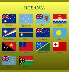 Set all flags oceania vector